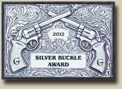 Winner of the GAMBLERS AND GUNFIGHTERS 2012 SILVER BUCKLE Award